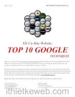 Tối ưu hóa website: Top 10 Google Techniques