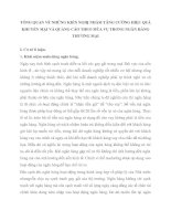TỔNG QUAN VỀ NHỮNG KIẾN NGHỊ NHẰM TĂNG CƯỜNG HIỆU QUẢ KHUYẾN MẠI VÀ QUẢNG CÁO THEO MÙA VỤ TRONG NGÂN HÀNG THƯƠNG MẠI