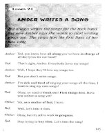 AMBER WRITES A SONG