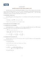 Chuyên đề ôn thi ĐH số 9: Phương pháp tọa độ trong không gian