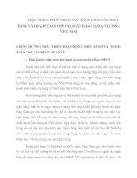 MỘT SỐ GIẢI PHÁP NHẰM ĐẨY MẠNH CÔNG TÁC PHÁT HÀNH VÀ THANH TOÁN THẺ TẠI NGÂN HÀNG NGOẠI THƯƠNG VIỆT NAM