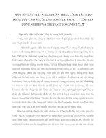 MỘT SỐ GIẢI PHÁP NHẰM HOÀN THIỆN CÔNG TÁC TẠO ĐỘNG LỰC CHO NGƯỜI LAO ĐỘNG TẠI CÔNG TY CỔ PHẦN CÔNG NGHIỆP VÀ TRUYỀN THÔNG VIỆT NAM