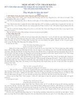 MỘT SỐ ĐỀ VĂN THAM KHẢO HKI 12 - LỚP 12A TRƯỜNG THPT VĨNH BÌNH BẮC-KIÊN GIANG