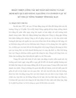 HOÀN THIỆN CÔNG TÁC KẾ TOÁN BÁN HÀNG VÀ XÁC ĐỊNH KẾT QUẢ BÁN HÀNG TẠI CÔNG TY CỔ PHẦN VẬT TƯ KỸ THUẬT NÔNG NGHIỆP TỈNH BẮC KẠN