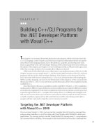 Building C++CLI Programs for the .NET Developer Platform with Visual C++