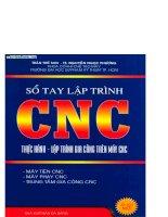 Sổ tay lập trình CNC - Thực hành lập trình gia công trên máy CNC