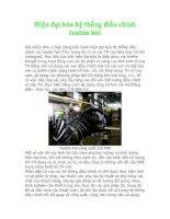 Hiện đại hóa hệ thống điều chỉnh tuabin hơi