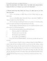 MỘT SỐ GIẢI PHÁP GÓP PHẦN NÂNG CAO HIỆU QUẢ HOẠT ĐỘNG SXKD Ở CÔNG TY CỔ PHẦN VẬN TẢI Ô TÔ VĨNH PHÚC