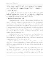 PHÂN TÍCH VÀ ĐÁNH GIÁ THỰC TRẠNG TẠO ĐỘNG LỰC CHO NGƯỜI LAO ĐỘNG Ở CÔNG TY CỔ PHẦN THAN CAO SƠN