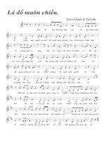 Bài hát lá đỏ muôn chiều - Đoàn Chuẩn & Từ Linh (lời bài hát có nốt)