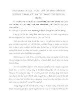 THỰC TRẠNG  CHẤT LƯỢNG CỦA CHƯƠNG TRÌNH DU LỊCH HẢI PHÒNG   CÁT BÀ TẠI CÔNG TY DU LỊCH HẢI PHÒNG