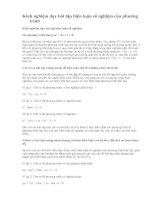 Biện luận số nghiệm của phương trình