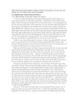 MỘT SỐ GIẢI PHÁP HOÀN THIỆN CÔNG TÁC QUẢN LÝ DỰ ÁN TẠI CÔNG TY CỔ PHẦN XÂY DỰNG SHINEC