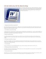 10 cách khắc phục khi file Word bị hỏng