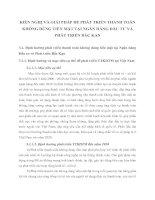 KIẾN NGHỊ VÀ GIẢI PHÁP ĐỂ PHÁT TRIỂN THANH TOÁN KHÔNG DÙNG TIỀN MẶT TẠI NGÂN HÀNG ĐẦU TƯ VÀ PHÁT TRIỂN BẮC KẠN