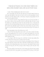 TẦM QUAN TRỌNG CỦA VIỆC PHÁT TRIỂN CÁC KHU CÔNG NGHIỆP  KHU CHẾ XUẤT Ở VIỆT NAM