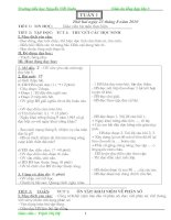 GIAO AN LOP 5 DU TUAN 1- 10