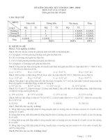 đề thi Lý 11 cơ bản  có ma trận