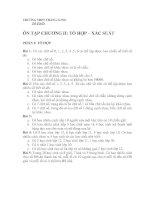 Đề cương ôn tập học kỳ 1 - Đại số 11