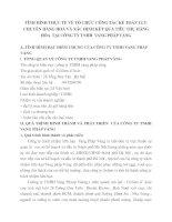 TÌNH HÌNH THỰC TẾ VỀ TỔ CHỨC CÔNG TÁC KẾ TOÁN LƯU CHUYỂN HÀNG HOÁ VÀ XÁC ĐỊNH KẾT QUẢ TIÊU THỤ HÀNG HÓA  TẠI CÔNG TY TNHH  VANG PHÁP VÀNG