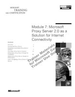 Module 7: Microsoft Proxy Server 2.0 as a Solution for Internet Connectivity