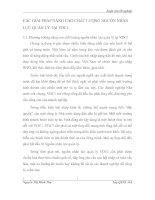 CÁC GIẢI PHÁP NÂNG CAO CHẤT LƯỢNG NGUỒN NHÂN LỰC QUẢN LÝ TẠI VDC1