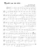 Bài hát người em áo dài - Quang Lộc (lời bài hát có nốt)