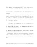 MỘT SỐ GIẢI PHÁP PHÒNG NGỪA VÀ HẠN CHẾ RỦI RO TÍN DỤNG TẠI NGÂN HÀNG TECHCOMBANK