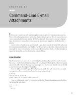 Command-Line E-mail Attachments