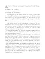 HỘI NHẬP KINH TẾ XU HƯỚNG TẤT YẾU CỦA NỀN KINH TẾ THẾ GIỚI