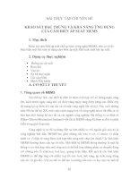 BÀI THỰC TẬP CHUYÊN ĐỀ: KHẢO SÁT ĐẶC TRƯNG VÀ KHẢ NĂNG ỨNG DỤNG CỦA CẢM BIẾN ÁP SUẤT MEMS