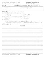 Kiểm tra 1 tiết ĐS 10- CHương 2 - 2 đề