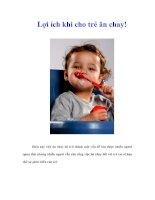 Lợi ích khi cho trẻ ăn chay!