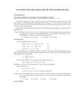 10 Phương pháp giải nhanh nhất các bài tập trắc nghiệm hóa học