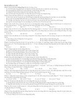 đề ôn tập thi học kì 1