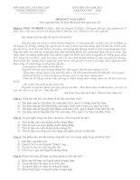 Đề  và Hướng dẫn chấm kiểm tra Học kì I môn Ngữ văn lớp 9 - Năm học 2007-2008 (Đà Nẵng)
