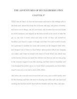 LUYỆN ĐỌC TIẾNG ANH QUA TÁC PHẨM VĂN HỌC-THE ADVENTURES OF HUCKLEBERRY FINN CHAPTER 37