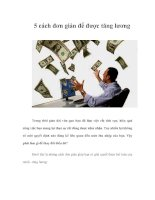 5 cách đơn giản để được tăng lương