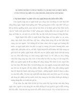 SỰ HÌNH THÀNH VÀ PHÁT TRIỂN CỦA NGHỆ THUẬT BIỂU DIỄN CÙNG VỚI SỰ RA ĐỜI CỦA ÂM THANH