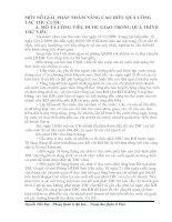 MỘT SỐ GIẢI  PHÁP NHẰM NÂNG CAO HIỆU QUẢ CÔNG   TÁC THU CƯỚC