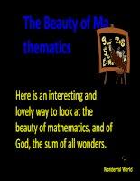 The-beauty-of-mathematics (Ve dep cua Toan hoc)
