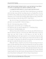 MỘT SỐ GIẢI PHÁP NHẰM NÂNG CAO LỢI NHUẬN TẠI CÔNG TY CÔNG TY MINH QUANG TRONG THỜI GIAN TỚI