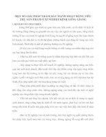 MỘT SỐ GIẢI PHÁP NHẰM ĐẨY MẠNH HOẠT ĐỘNG TIÊU THỤ SẢN PHẨM Ở XÍ NGHIỆP KÍNH LONG GIANG