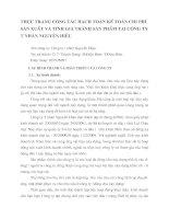 THỰC TRẠNG CÔNG TÁC HẠCH TOÁN KẾ TOÁN CHI PHÍ SẢN XUẤT VÀ TÍNH GIÁ THÀNH SẢN PHẨM TẠI CÔNG TY TƯ NHÂN NGUYÊN HIỆU