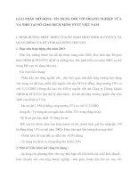 GIẢI PHÁP MỞ RỘNG TÍN DỤNG ĐỐI VỚI DOANH NGHIỆP VỪA VÀ NHỎ TẠI SỞ GIAO DỊCH NHN0  PTNT VIỆT NAM