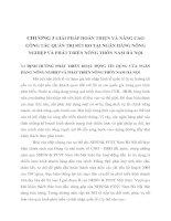 CHƯƠNG 3 GIẢI PHÁP HOÀN THIỆN VÀ NÂNG CAO CÔNG TÁC QUẢN TRỊ RỦI RO TẠI NGÂN HÀNG NÔNG NGHIỆP VÀ PHÁT TRIỂN NÔNG THÔN NAM HÀ NỘI