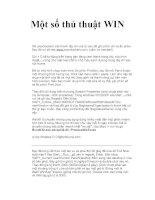 Một số thủ thuật WIN