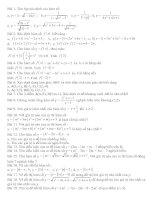 Bài tập hay nhất về hs và hs bậc nhất