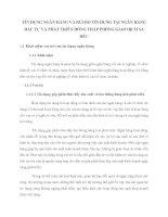 TÍN DỤNG NGÂN HÀNG VÀ RỦI RO TÍN DỤNG TẠI NGÂN HÀNG ĐẦU TƯ VÀ PHÁT TRIỂN ĐỒNG THÁP PHÒNG GIAO DỊCH SA ĐÉC