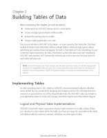 Bullding tables of data